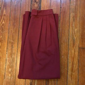 The Frankie Shop Burgundy Slacks